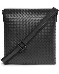 Bottega Veneta - Intrecciato Leather Messenger Bag - Lyst