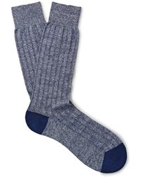 Pantherella - Two-tone Knitted Socks - Lyst