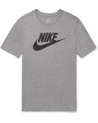 Nike - Printed Cotton-jersey T-shirt - Lyst