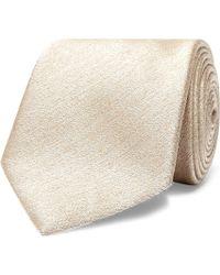 Brioni - 8cm Slub Silk And Wool-blend Tie - Lyst