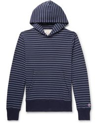 Todd Snyder - Striped Loopback Cotton-jersey Hoodie - Lyst