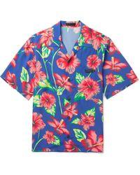 Prada - Camp-collar Printed Voile Shirt - Lyst