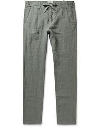 Hartford - Troy Slim-fit Linen Drawstring Trousers - Lyst