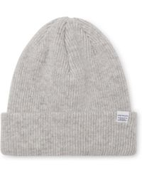 Norse Projects - Ribbed Mélange Merino Wool Beanie - Lyst