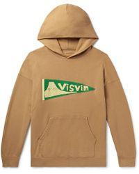 Visvim - Jumbo Logo-appliquéd Loopback Cotton-jersey Hoodie - Lyst