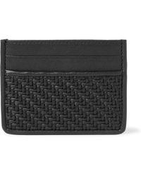 Ermenegildo Zegna - Pelle Tessuta Leather Cardholder - Lyst