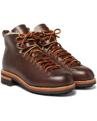 Feit - Hiker Shearling-lined Leather Boots - Lyst