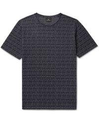 PS by Paul Smith - Broken Stripe Cotton-jacquard T-shirt - Lyst