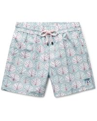 25bd0833191 Pink House Mustique Mid-length Printed Swim Shorts in Blue for Men ...