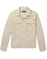 Tom Ford - Washed Stretch-cotton Corduroy Jacket - Lyst