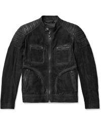 Belstaff - Weybridge Perforated Burnished-nubuck Jacket - Lyst