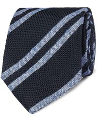 Drake's - 8cm Striped Silk-grenadine Tie - Lyst