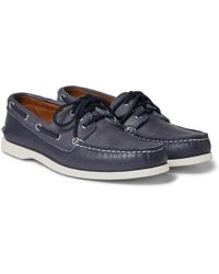 Quoddy - Downeast Leather Boat Shoes - Lyst