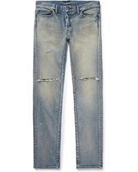 John Elliott - The Cast 2 Skinny-fit Distressed Stretch-denim Jeans - Lyst