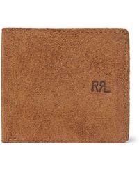 RRL - Ranch Suede Billfold Wallet - Lyst