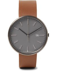Uniform Wares | M40 Pvd-coated Stainless Steel And Leather Watch | Lyst