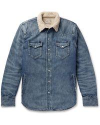 Polo Ralph Lauren - Sherpa-lined Denim Western Shirt Jacket - Lyst