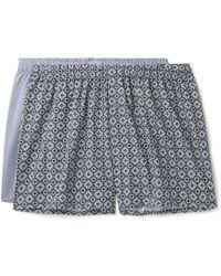Hanro - Two-pack Cotton-poplin Boxer Shorts - Lyst
