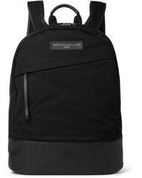 Want Les Essentiels De La Vie - Kastrup Leather-trimmed Organic Cotton-canvas Backpack - Lyst