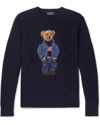 Polo Ralph Lauren - Men's Iconic Polo Bear Jumper - Lyst