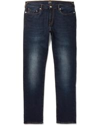 PS by Paul Smith - Slim-fit Tapered Stretch-denim Jeans - Lyst