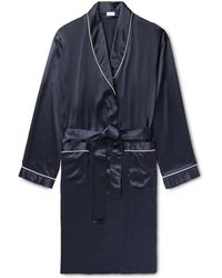 Zimmerli - Piped Silk-satin Robe - Lyst