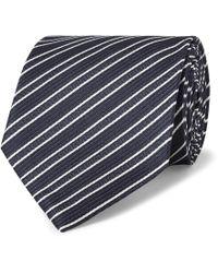 Ermenegildo Zegna - 8cm Striped Silk-jacquard Tie - Lyst