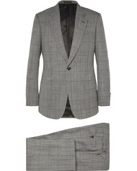 Kingsman - Grey Slim-fit Single-breasted Prince Of Wales Checked Suit - Lyst