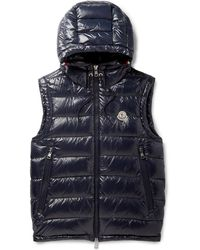 e7b0cc7042da Moncler - Lanoux Quilted Shell Hooded Down Gilet - Lyst