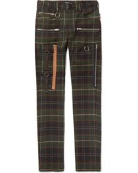 Undercover - Skinny-fit Checked Wool Trousers - Lyst