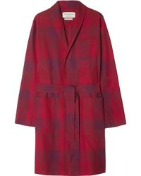 Oliver Spencer - Checked Cotton Robe - Lyst