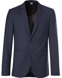 PS by Paul Smith - Slim-fit Checked Wool-blend Suit Jacket - Lyst