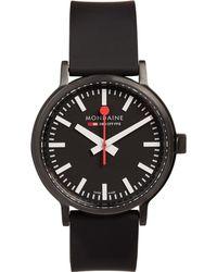 Mondaine - Stop2go Brushed-steel Watch - Lyst
