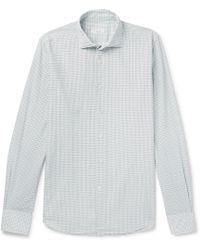 Incotex - Slim-fit Grid-checked Cotton Shirt - Lyst