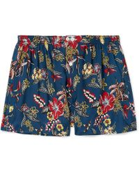 Anonymous Ism - Printed Voile Boxer Shorts - Lyst