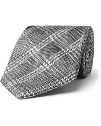 Tom Ford - 8cm Prince Of Wales Checked Silk-jacquard Tie - Lyst