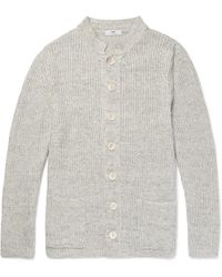 Inis Meáin - Ribbed Linen Cardigan - Lyst