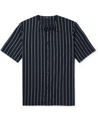 Theory - Striped Cotton-blend Shirt - Lyst