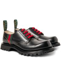 Gucci - Arley Leather Derby Shoes - Lyst