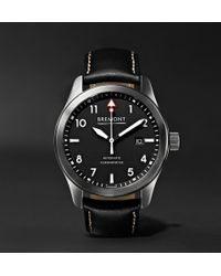 Bremont - Solo/wh Automatic 43mm Stainless Steel And Leather Watch - Lyst
