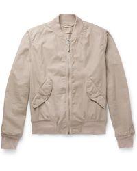Aspesi - Slim-fit Cotton-twill Bomber Jacket - Lyst