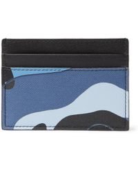 Valentino - Garavani Camouflage-print Leather And Canvas Cardholder - Lyst