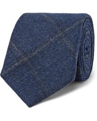 Altea - 8.5cm Checked Wool, Silk And Cashmere-blend Tie - Lyst