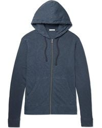 James Perse | Loopback Supima Cotton-jersey Zip-up Hoodie | Lyst