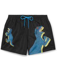 Paul Smith - Black 'Dino' Placement Print Swim Shorts - Lyst