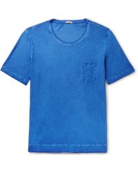 Massimo Alba - Watercolour-dyed Cotton-jersey T-shirt - Lyst