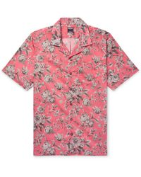 Todd Snyder - + Liberty Camp-collar Printed Cotton-voile Shirt - Lyst