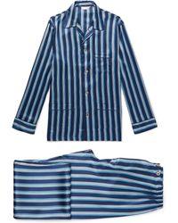 Derek Rose - Brindisi Striped Silk Pyjama Set - Lyst