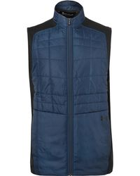 Under Armour - Elements Quilted Shell And Stretch-jersey Golf Gilet - Lyst