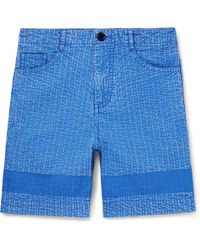 Craig Green - Acid-washed Cotton Shorts - Lyst